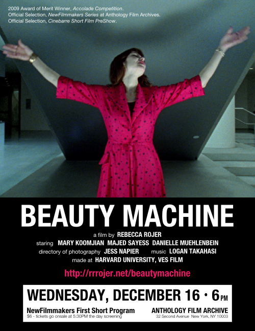 Poster for BEAUTY MACHINE Dec. 16 screening