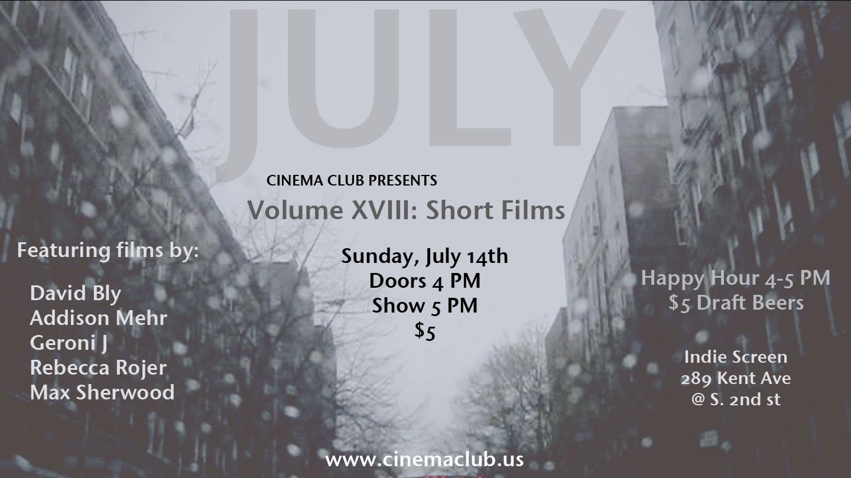 Cinema Club Vol. XVIII